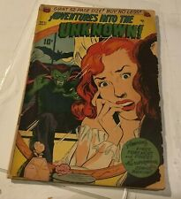 ADVENTURES INTO THE UNKNOWN #21 1951 VAMPIRE ZOMBIES acg precode horror comic!
