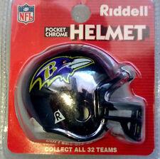 NFL American Football BALTIMORE RAVENS Riddell Pocket Pro Chrome Helmet