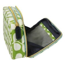 NWT Orla Kiely Target Small Tulip Double Zip Cosmetic Travel Makeup Bag Case