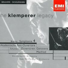"Otto Klemperer Legacy BRAHMS Symphonie 4 SCHUMANN Ouvertüren "" Genoveva, Manfed"""