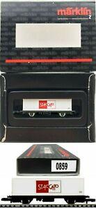MARKLIN Z SCALE  M/M 0859 Staccato Container Car in Special Black Box C8