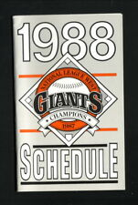 San Francisco Giants--1988 Pocket Schedule--Ticketron