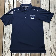 NHL Vancouver Canucks Hockey • Men's ADIDAS GOLF ClimaCool Polo size SMALL
