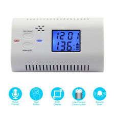 LCD Digital Voice Carbon Monoxide CO Alarm Detector Fire Warning Monitor
