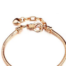 Stainless Steel Clasp Charm Women Men Love Gold Color DIY Chain Snake Bracelet