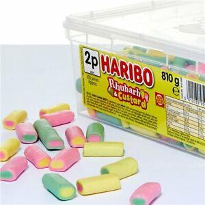 Haribo Rhubarb Custard Retro Sweets Vanilla Gummy Jelly Fruit Pick N Mix Candy