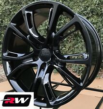 "Jeep Grand Cherokee SRT8 OE Factory Replica 9113 Wheels 20x10"" Gloss Black Rims"