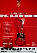 KUHN, DIETER THOMAS - 2001 - Konzertplakat - Null / Eins - Tourposter - Stuttgar