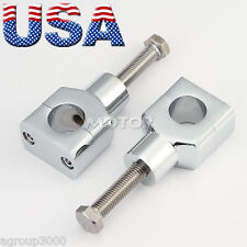1'' Chrome Motorcycle Handlebar Risers for Harley Davidson Softail Fat Boy FLSTF