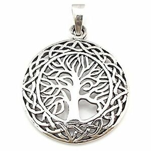 Sterling Silver 925 Tree Of Life Pendant ( 26 MM )  !!       Brand  New  !!