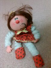 old vintage doll figurine figure or toy freckles silly mouth hole face drawn on