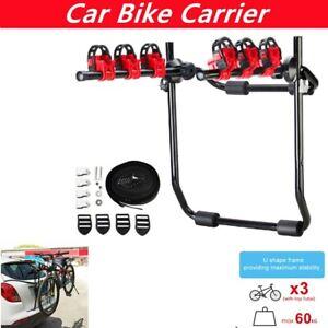 Motor Trunk Mount Kit 3 Bike Rack Carrier Hatchback SUV Car Rear Bicycle Holder