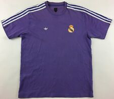 Real Madrid 1980s purple Adidas vintage retro shirt jersey maillot camiseta L