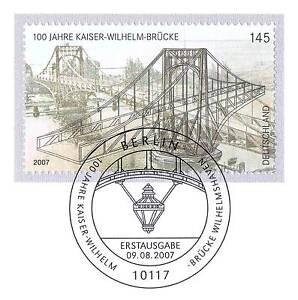 Frg 2007: Kaiser-Wilhelm-Brücke Wilhelmshaven No 2616! Berlin Stamp! 1A 1607