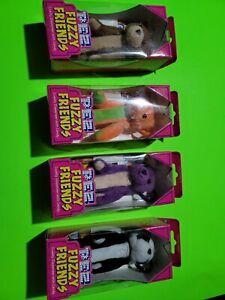 PEZ Fuzzy Friends ~ Set of 4 BEARS series~ NEW IN BOX 2002