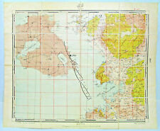 Greek Island Lesbos and Ayvalik 1927-28 Ottoman Turkish Military Topographic Map