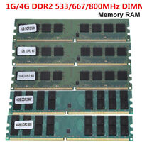 1GB/4GB Memory RAM DDR2 PC2-4200/5300/6400 533/667/800MHZ 240Pin Desktop Memory