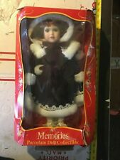 Memories Porcelain Doll Collectible - New From Old Stock - Damaged Box