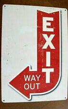 Hillman exit way out Sign plaque Aluminum Metal 10 x 14 retro vintage look