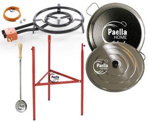 60cm Original Paella Pan Set + 50cm Gas Burner + Lid + Stainless Steel Spoon