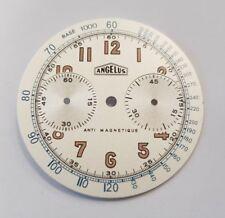 Angelus watch dial for ETA Valjoux 7733 never used
