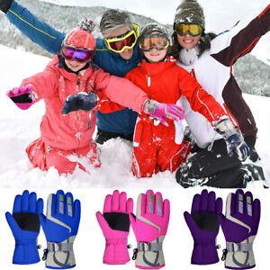 Winter Outdoor Waterproof Warm Kids Boys Girls Gloves Ski Children Mittens Snow~