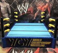 Wwe Mattel Wcw Blue Figure Ring elite Target Exclusive Rare