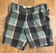 Casual Shoes Hollister Plaid Shorts Men Size 31 Blue Summer Casual Flap Pockets Button Fly Clothing, Shoes & Accessories