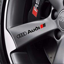 4 AUDI Stickers Decals Wheels Rims Black