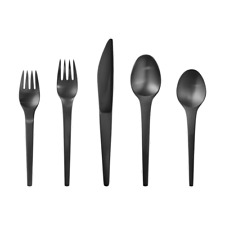 Caravel Black by Georg Jensen Stainless Steel Flatware Set For 8 Service New