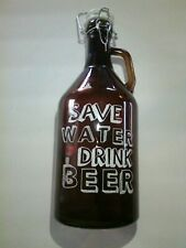Glass Bottle Save Water Drink Beer Large