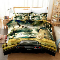 Supernatural 3PCS Bedding Set SPN Duvet Cover Pillowcase Comforter Cover US Size
