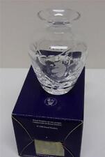 "1998 Royal Doulton Finest Crystal Vase New In Box Vintage Sz-3 3/4"" Tall England"