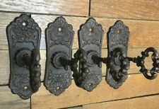 4 Key style Coat Hooks Hat Scarf Wall 6x2 rustic cast iron hanger