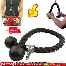 Home Triceps Gym Push Up/Down Arm Rope Press Bar Cable Attachment Bicep Training