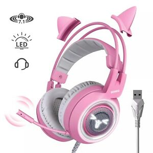 SOMIC G951 PINK USB Vibration 7.1 Sound Noise Cancelling Gaming Headset For PC