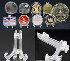 50 Capsules/Challenge Badge/Medal Coin Minerals Cards Display Easel Stand Holder