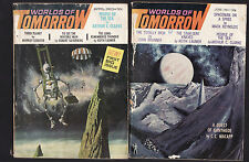 WORLDS OF TOMORROW SCIENCE FICTION JOURNAL : COMPLETE FROM NO. 1 1963 - 1966  C
