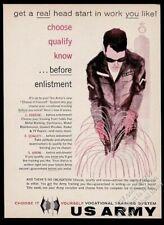 1959 welder welding art U.S. US Army recruitment vintage print ad