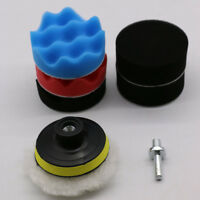 7pcs/set 3 Inch For Car Buffing Pad Kit Polishing Wheel Sponge pad Drill Adapter
