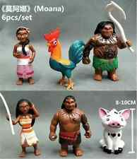 6Pcs Movie Moana Maui Decoration Action Figures PVC Kid Toy Birthday Gift
