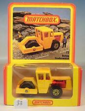 Matchbox Superfast nº 72 Bomag Road Roller amarillo alemana Hösbach nº 2 OVP #033