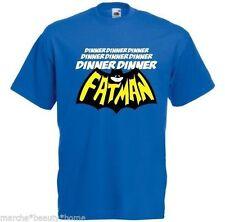 Men's t-shirt bleu dîner Dinner FATMAN Humour Drôle T shirt Taille XXL made2order