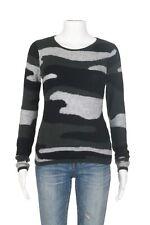 AQUA Camouflage Cashmere Top Size Small Long Sleeve Soft Knit Camo Shirt