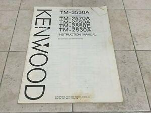 Kenwood TM-2530A TM-2550A TM-2570A TM-3530A Owner's Operating Manual