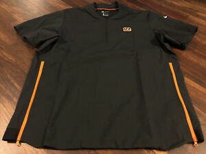 New Nike Cincinnati Bengals NFL Football Jacket Size Large Black Orange