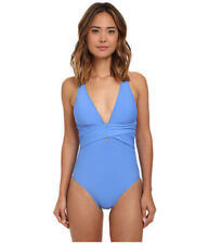 Athena one piece Swimsuit Cabana Solids Soft Cup Size 12 Corn Flower (blue) NWTs