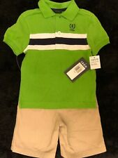 New - Izod Boy's Size 3T Polo Shirt & Khaki Shorts 2-Pc