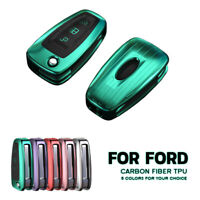 TPU Carbon Remote Key Cover Fob For Ford Ranger C-Max S-Max Focus Galaxy  Newest