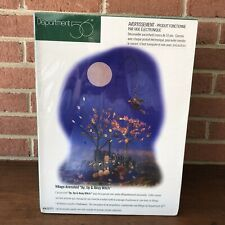 Dept 56 Halloween Village Animated Up, Up and Away Witch Sealed!